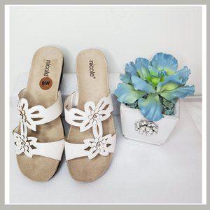 Nicole's White Flower Sandals